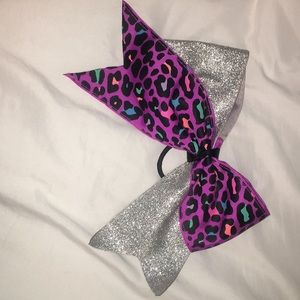 Other - Purple cheetah print and sparkle cheer bow!